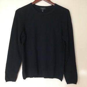 Charter Club black cashmere crew neck sweater   L